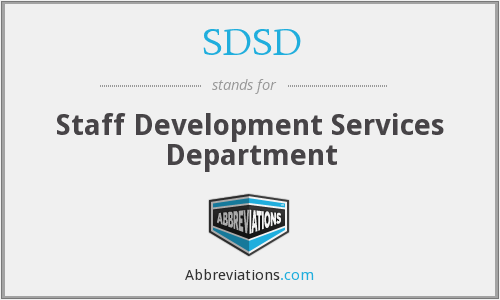 What does SDSD stand for?