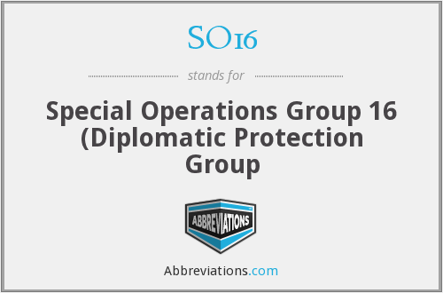 SO16 - Special Operations Group 16 (Diplomatic Protection Group