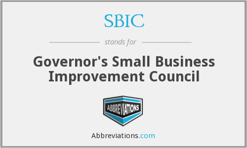 SBIC - Governor's Small Business Improvement Council