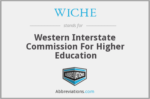 What does WICHE stand for?