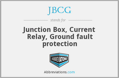 JBCG - Junction Box, Current Relay, Ground fault protection