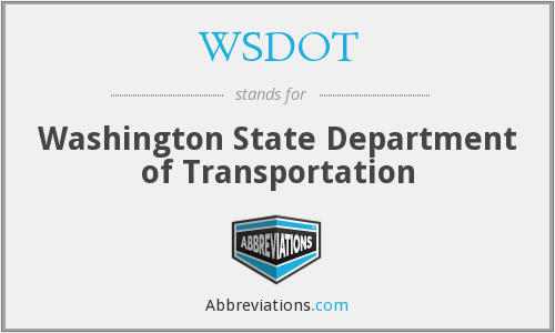 What does WSDOT stand for?