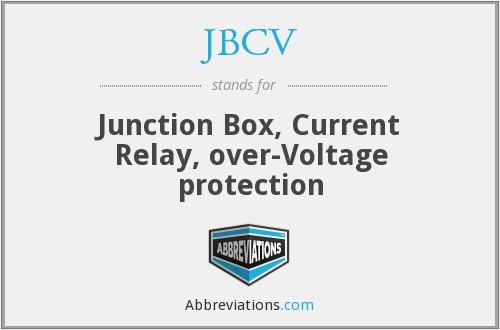 JBCV - Junction Box, Current Relay, over-Voltage protection