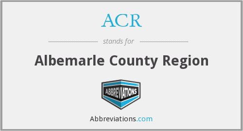 ACR - Albemarle County Region