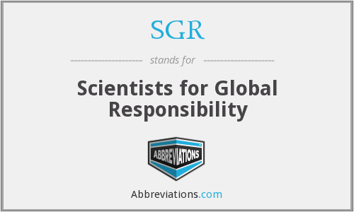 SGR - Scientists for Global Responsibility