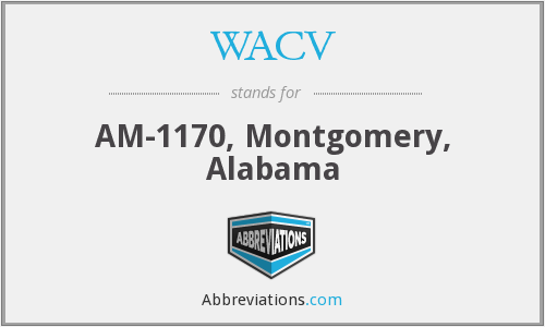 WACV - AM-1170, Montgomery, Alabama