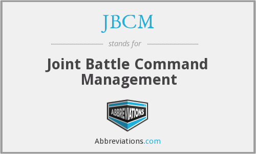 JBCM - Joint Battle Command Management