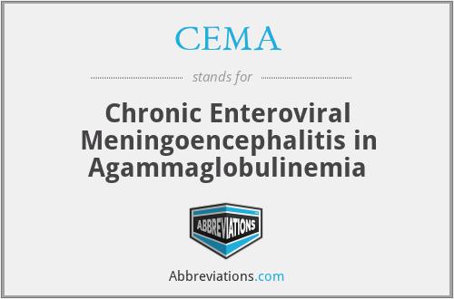 CEMA - Chronic Enteroviral Meningoencephalitis in Agammaglobulinemia
