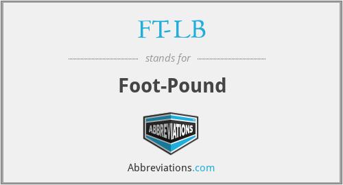 FT-LB - Foot-Pound