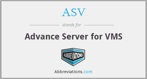 ASV - Advance Server for VMS