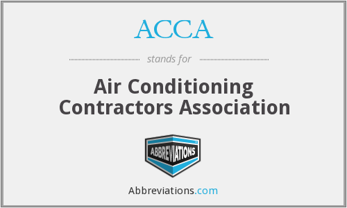 ACCA - Air Conditioning Contractors Association