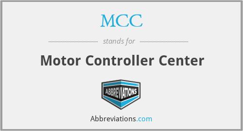 MCC - Motor Controller Center