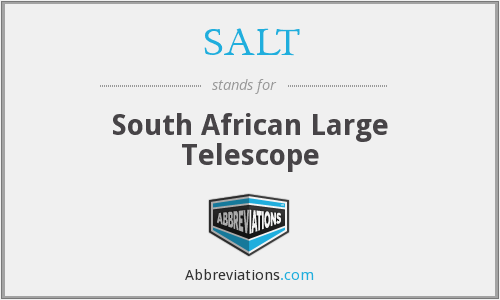 SALT - South African Large Telescope