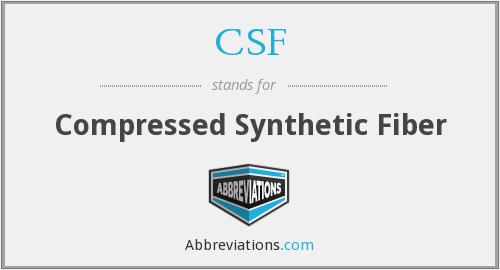 CSF - Compressed Synthetic Fiber