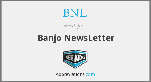 BNL - Banjo NewsLetter