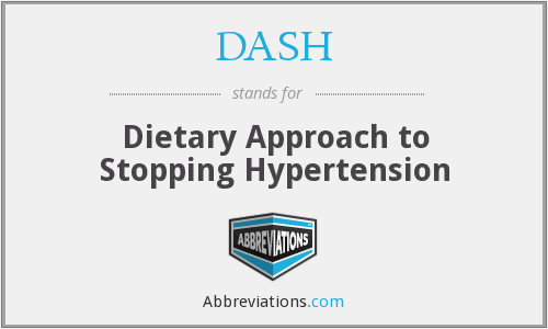 DASH - Dietary Approach to Stopping Hypertension