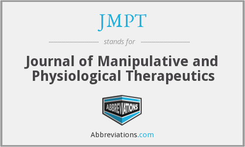 JMPT - Journal of Manipulative and Physiological Therapeutics