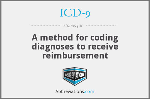 ICD-9 - A method for coding diagnoses to receive reimbursement