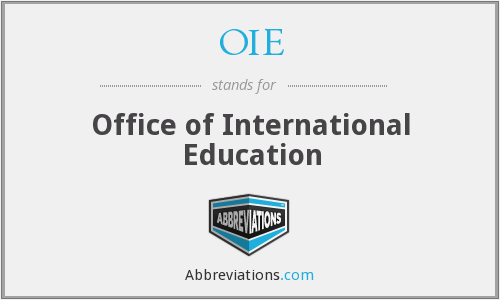 OIE - Office of International Education