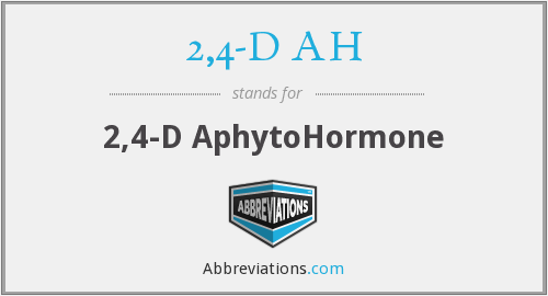 What does 2,4-D AH stand for?