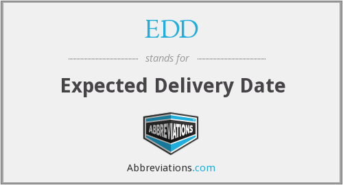 EDD - Expected Delivery Date