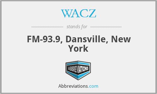 WACZ - FM-93.9, Dansville, New York