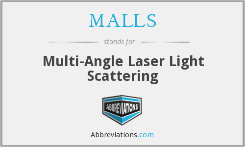 MALLS - Multi-Angle Laser Light Scattering