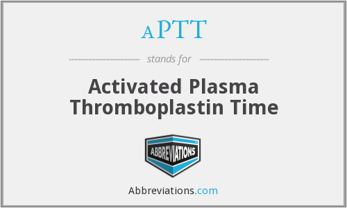 aPTT - Activated Plasma Thromboplastin Time