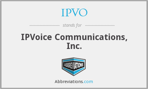 IPVO - IPVoice Communications, Inc.