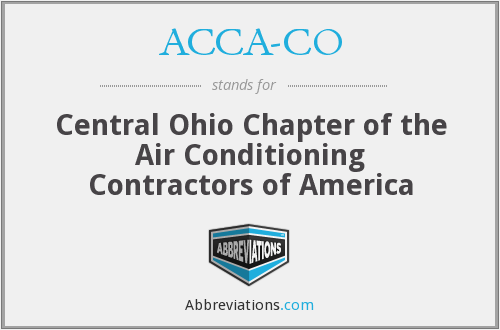 ACCA-CO - Central Ohio Chapter of the Air Conditioning Contractors of America