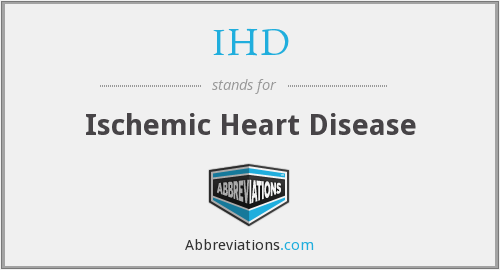 What does IHD stand for?