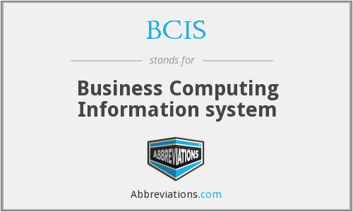 BCIS - Business Computing Information system
