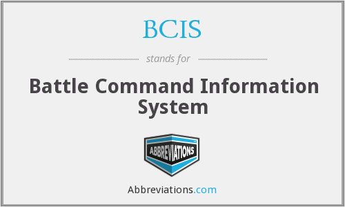 BCIS - Battle Command Information System