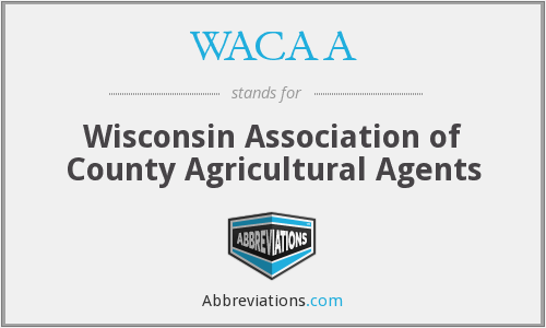 What does WACAA stand for?