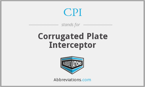 CPI - Corrugated Plate Interceptor