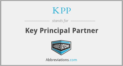 KPP - Key Principal Partner