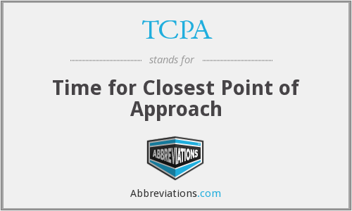 TCPA - Time for Closest Point of Approach