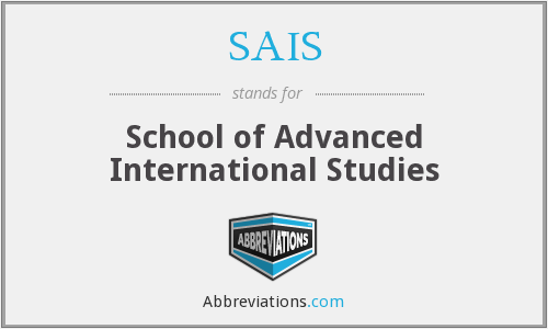 SAIS - School of Advanced International Studies