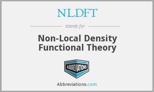 What does NLDFT stand for?