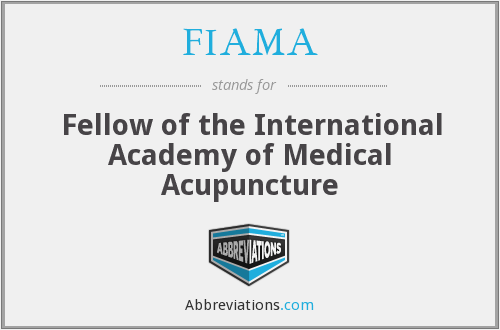 FIAMA - Fellow of the International Academy of Medical Acupuncture