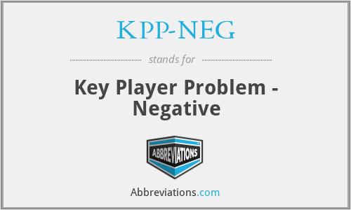 KPP-NEG - Key Player Problem - Negative