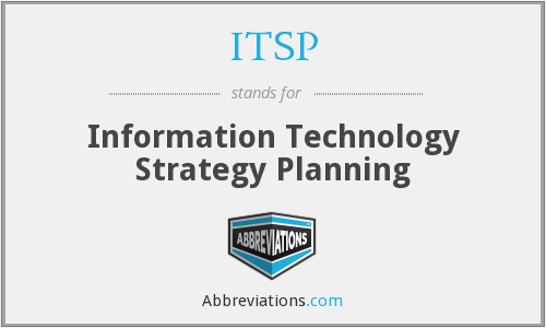 ITSP - Information Technology Strategy Planning