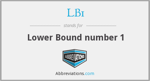 What does LB1 stand for?