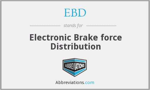 EBD - Electronic Brake force Distribution
