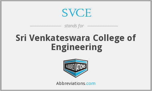 SVCE - Sri Venkateswara College of Engineering
