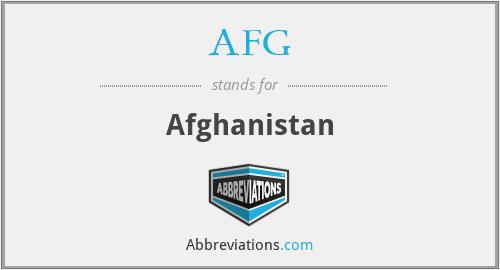 AFG - Afghanistan