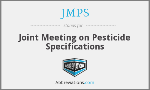 JMPS - Joint Meeting on Pesticide Specifications