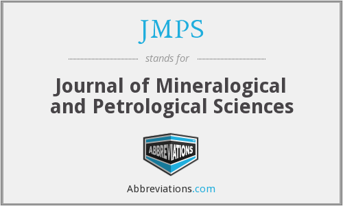 JMPS - Journal of Mineralogical and Petrological Sciences