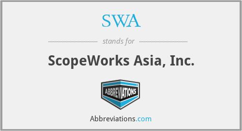 SWA - ScopeWorks Asia, Inc.
