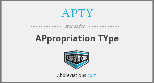 APTY - APpropriation TYpe